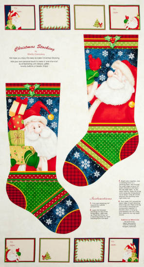 Christmas stocking by Shelly Comiskey