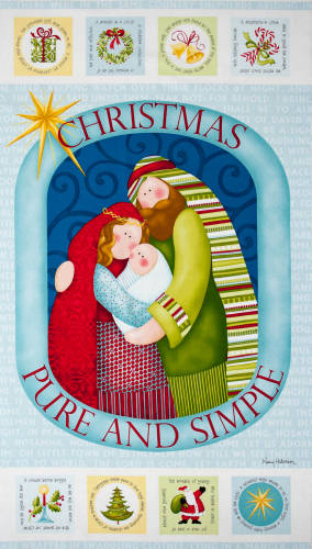 Christmas Pure and Simple panel