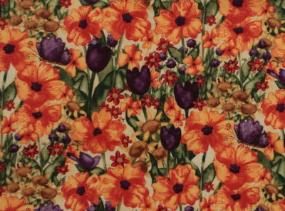 Garden Buzz fabric, flowers