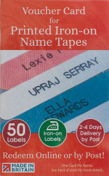 Printed iron-on name tapes