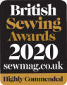 Highly Commended, British Sewing Awards 2018